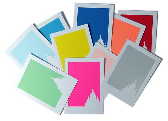 Collection de 10 cartes couleurs