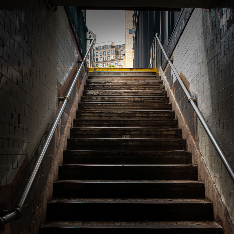STAIRS TO SUBWAY New York Intimate Limited Edition Photography