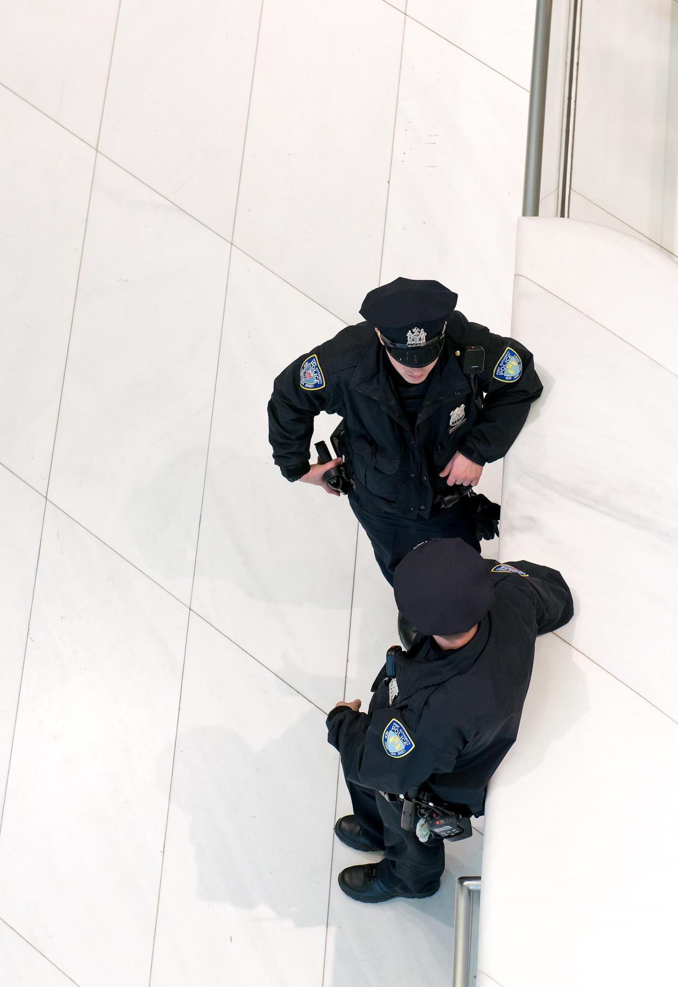 Two cops in Ground Zero
