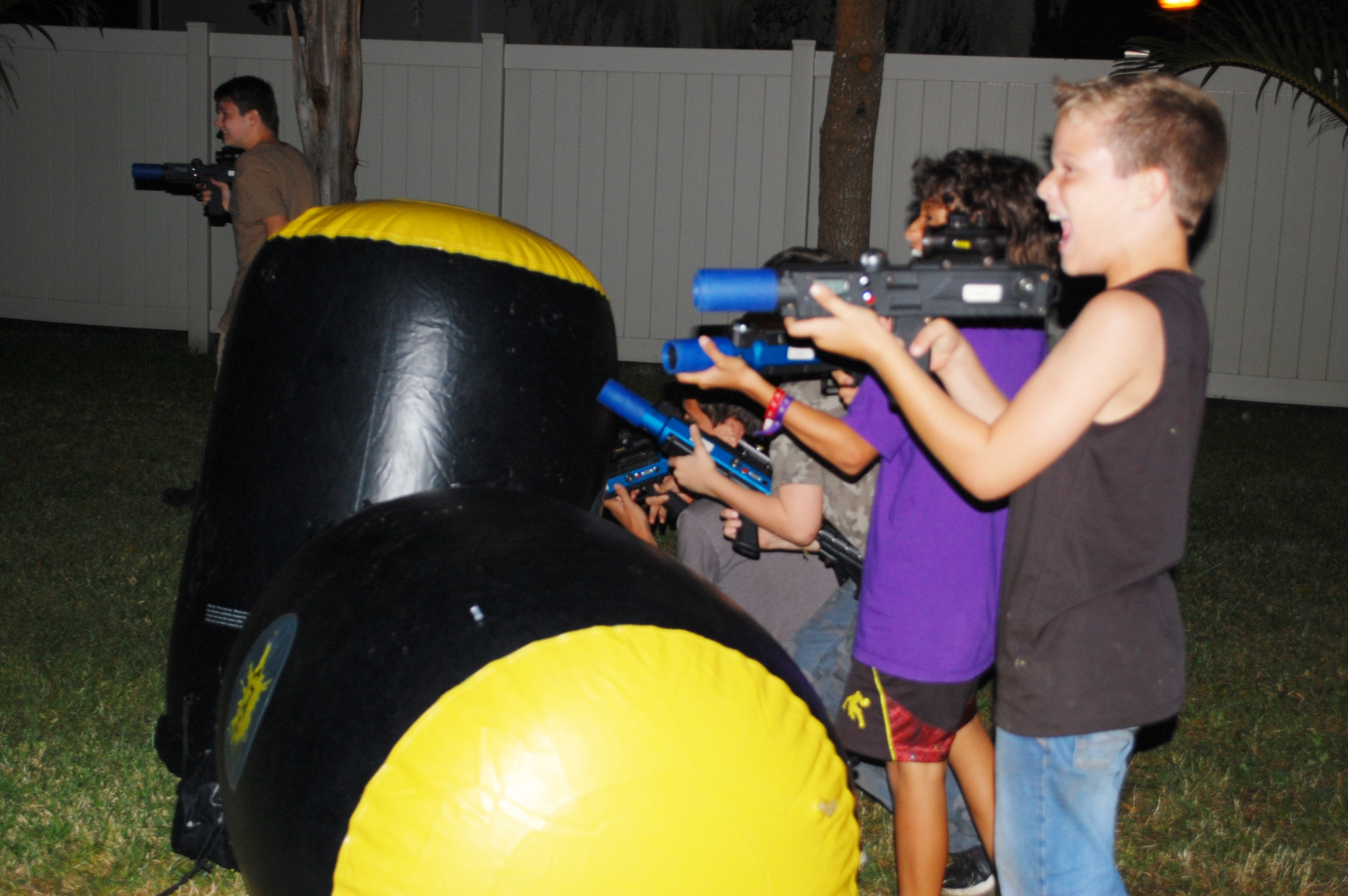 Backyard Laser Battle, Naples FL