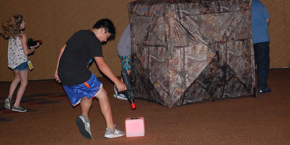 Indoor laser tag event