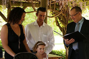 A Naming ceremony for a Toowoomba family