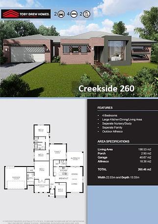 Creekside 260 single wide front - 2G 4B