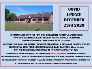 Covid19 Update 23 Dec 2019.
