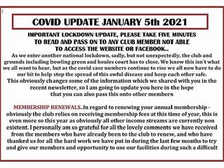 Covid19 Update January 5th 2021.