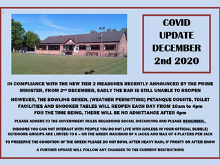 Covid19 update DEC 2nd 2029