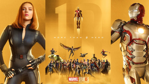Marvel Cinematic Universe 10 Years Poster Collage