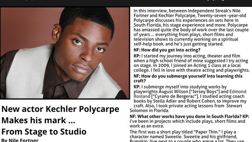 Interview with Kechler Polycarpe