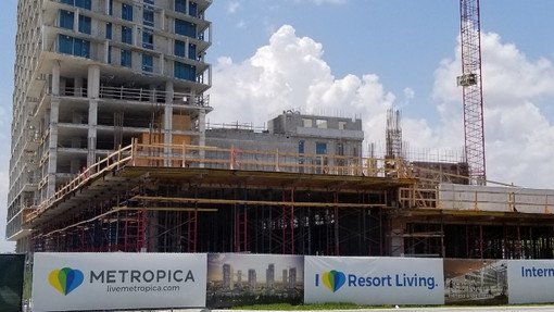 The construction begins over at the Sawgrass Mills Mall area and the mega-development known as Metropica is possibly harmful for the local environment. (Picture Taken by Nile Fortner)
