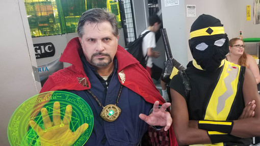 Marvel's Dr. Strange Cosplayer and South Florida's newest hero, Samurai Buzzsaw.