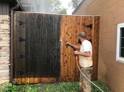 Cedar Pressure Wash Remove old grey color