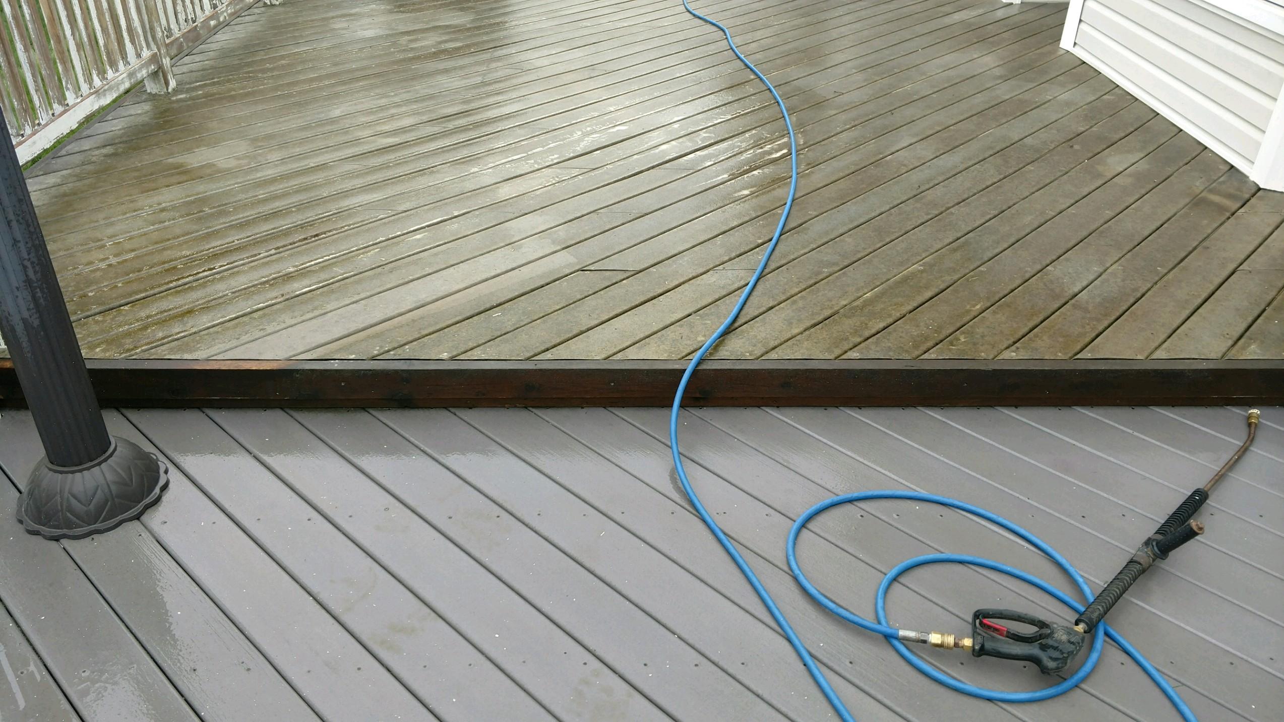 Composit Deck Power Wash