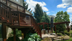 Large Deck and Pergola stain restoration