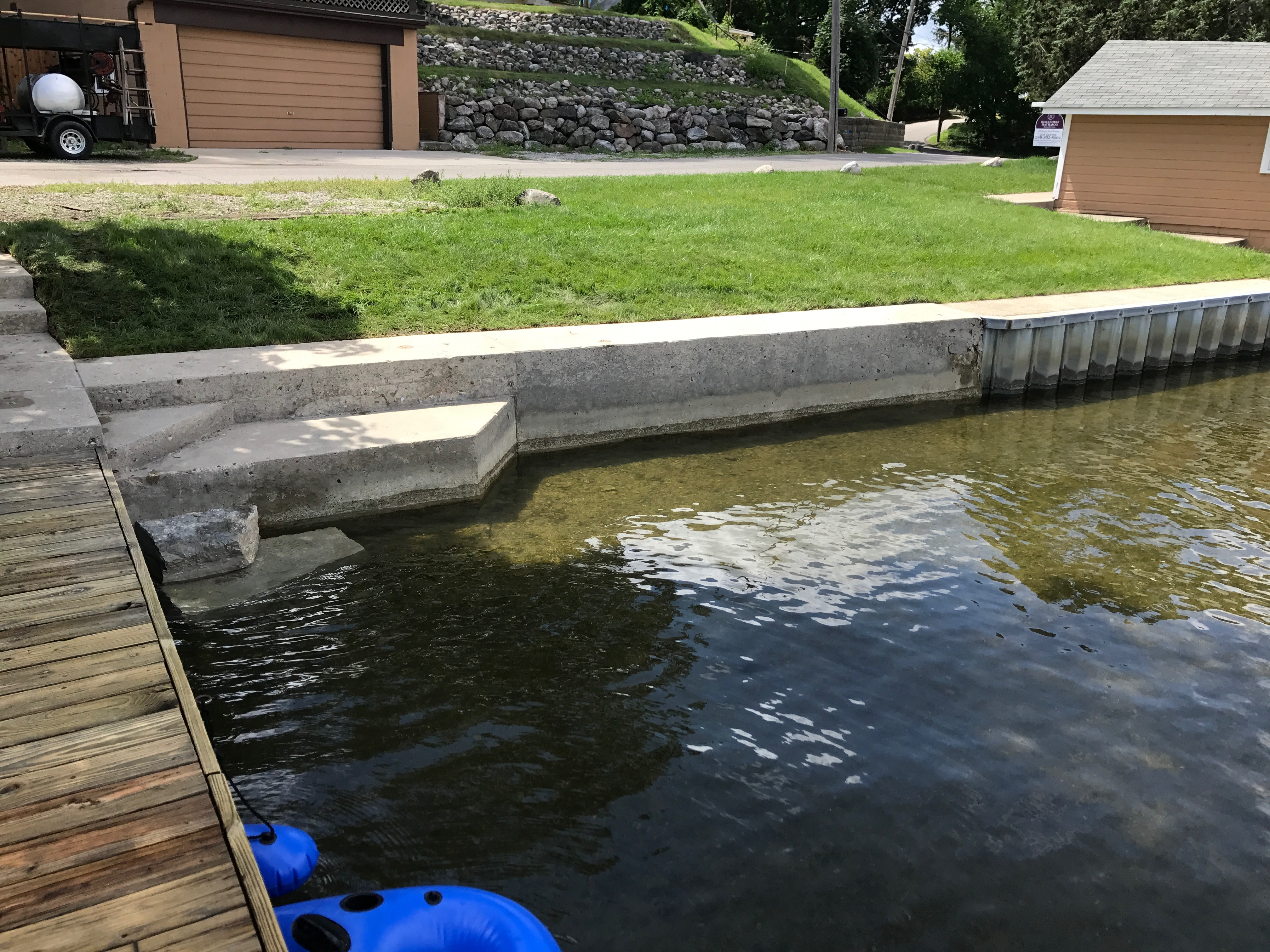 Power Wash Dock and Sea Wall Lake Orion