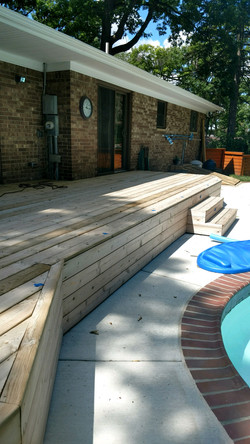New Deck before 2 Tone Solid Color & Semi-Transparent Stain