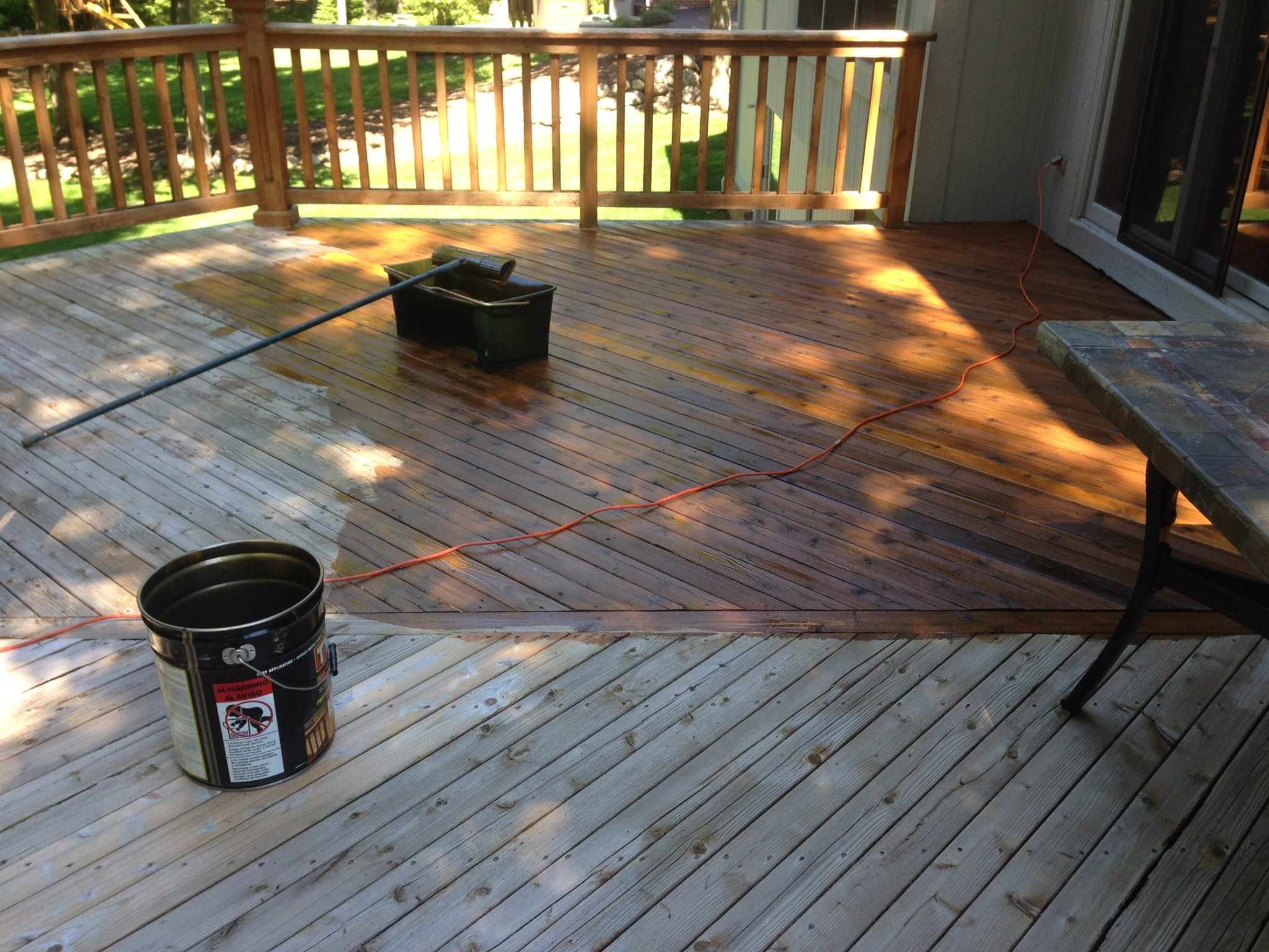 Cedar Deck Stain with TWP in Clarkston