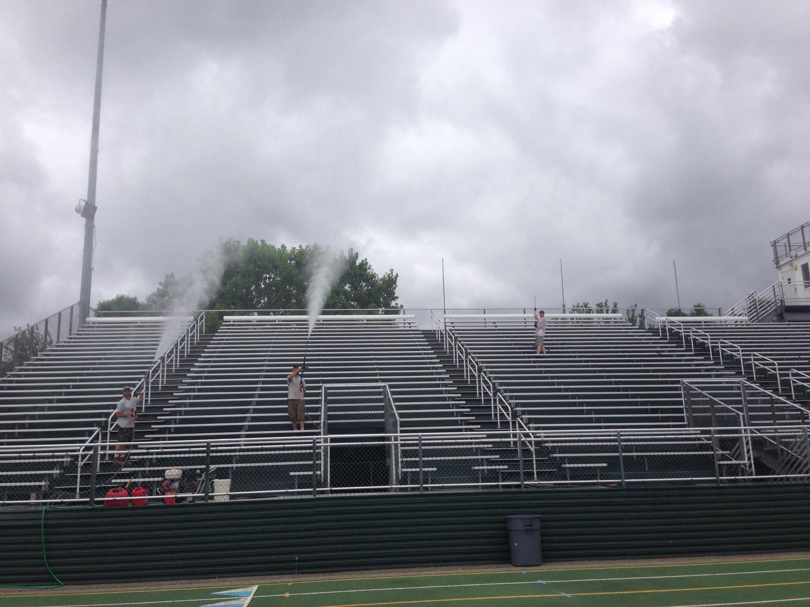Pressure Wash High School Stadium