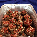 Veggie lovers Portabella stuffed mushrooms