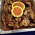 Orange sesame ginger all white chicken cutlets