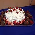 fresh strawberry shortcake cake