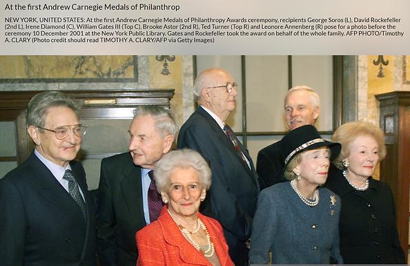 2001 group carnegie medals of philantrop