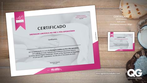 Certificado Drenagem Linfática