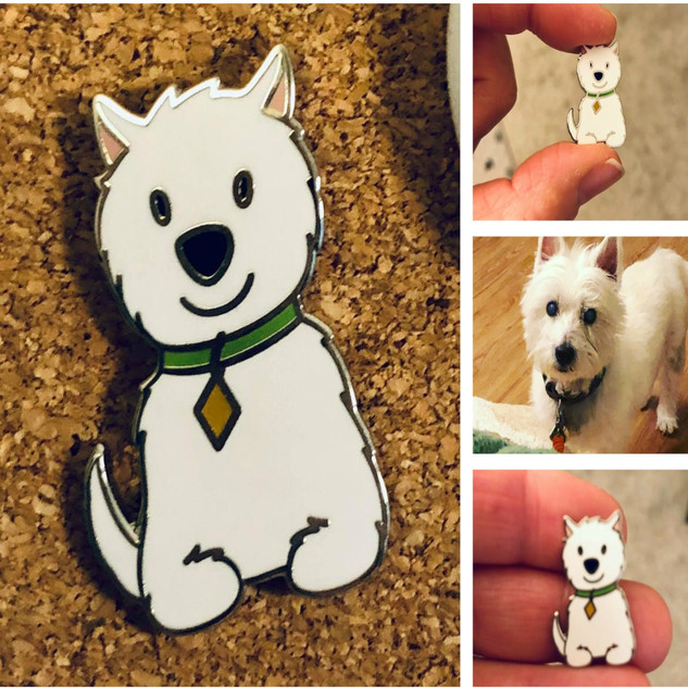 Westie Pin (Westie not included)