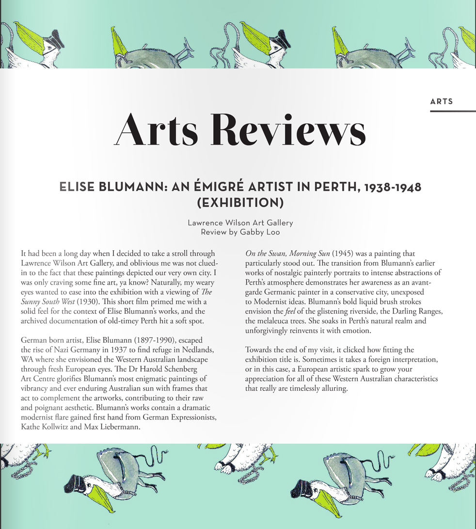 Elise Blumann Exhibition