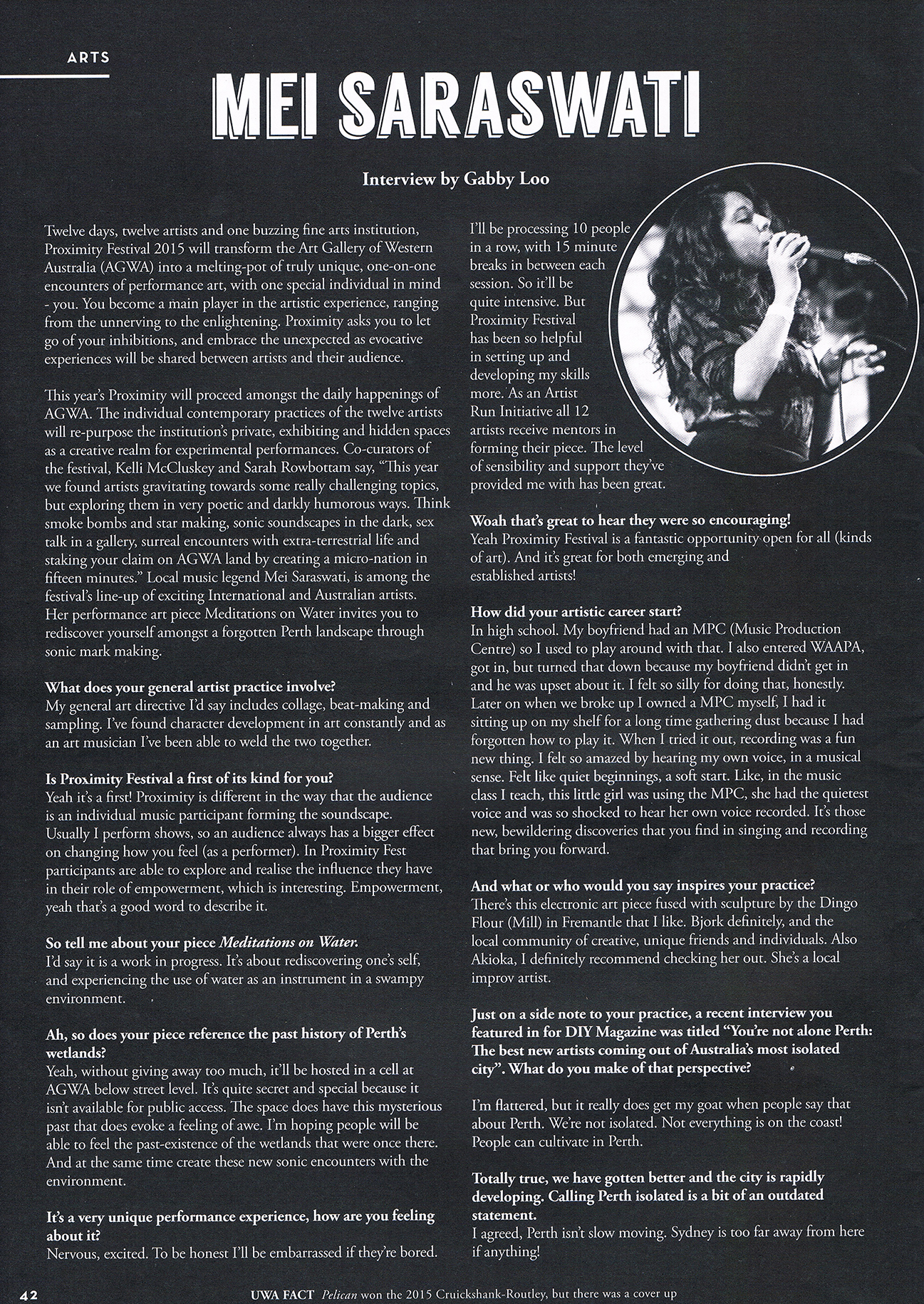 Mei Saraswati Interview