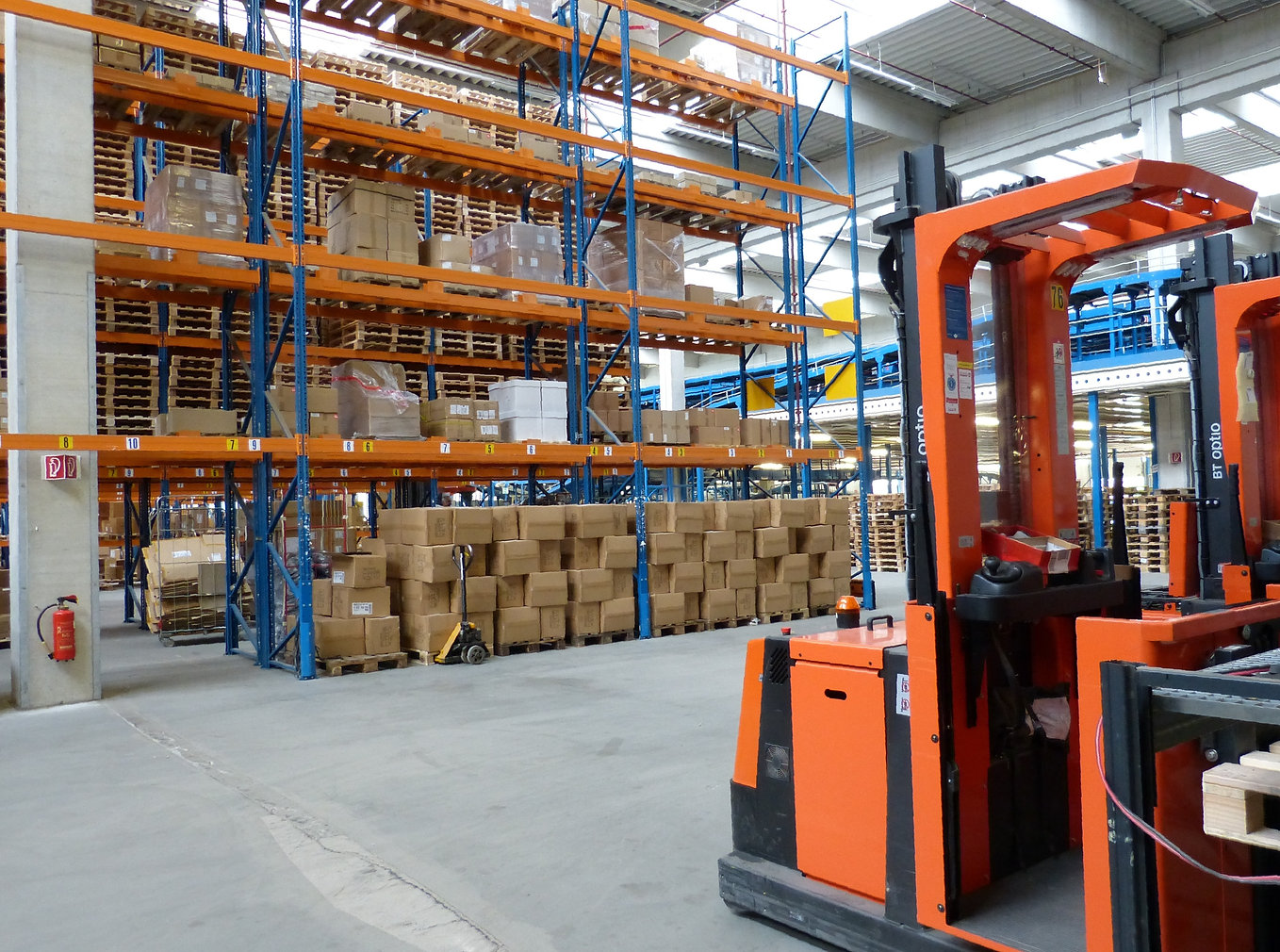 Warehouse with Forklift