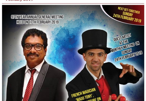 02.2019 Article about Magic Tony the Founder of Magic Brothers World performing Charity Magic Shows in Sri Lanka