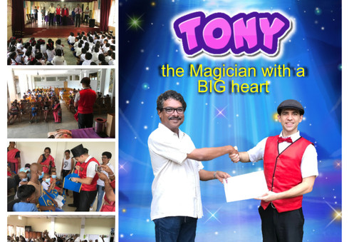 03.2019 Article about Magic Tony the Founder of Magic Brothers World performing Charity Magic Shows in Sri Lanka