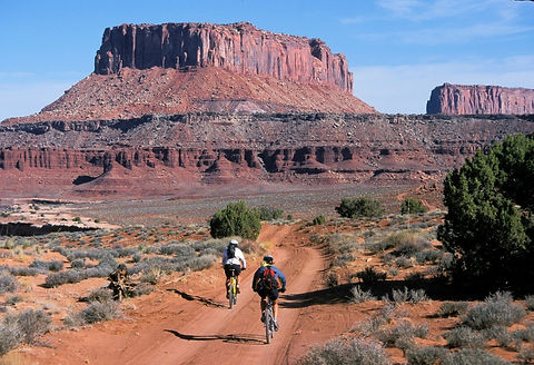 Biking in the Arizona rock formations