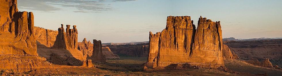 Beautiful canyonlands at sunset