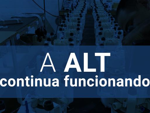 A ALT permanece funcionando normalmente
