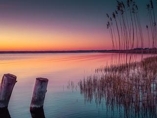 Sunset over Wrzosowo Bay