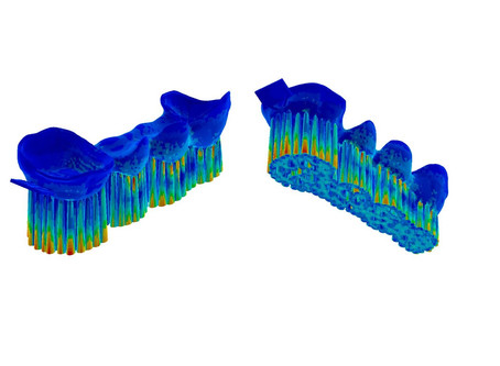 40% Material Reduction with AdditiveLab Optimization.