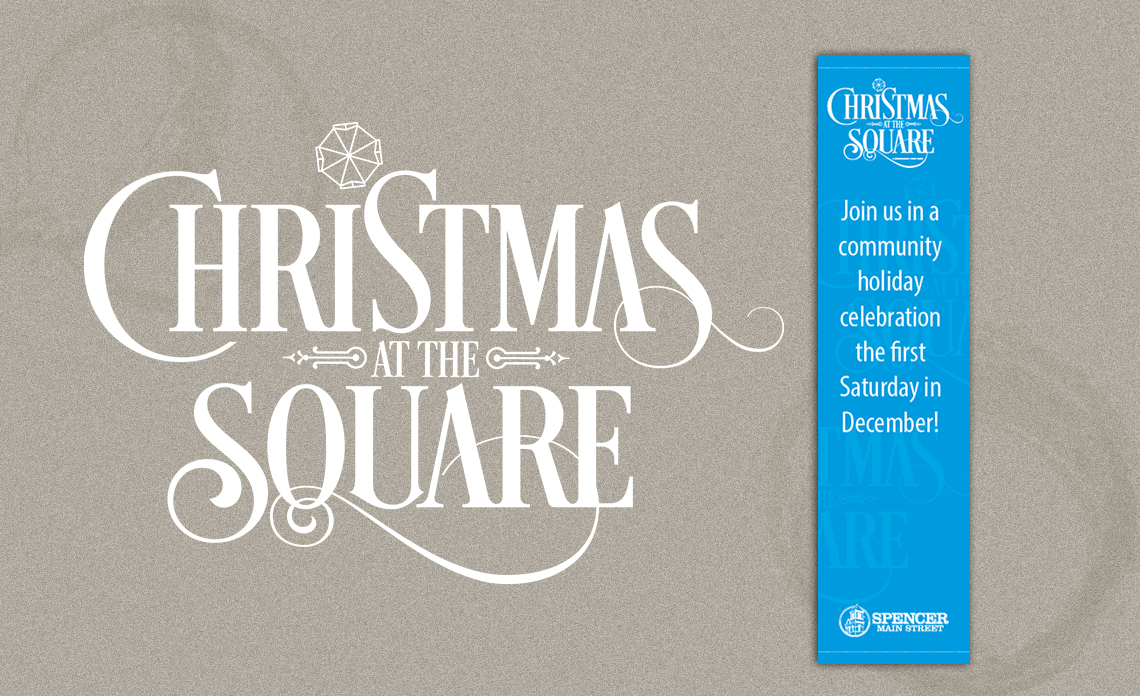 banner logo xmas at the square