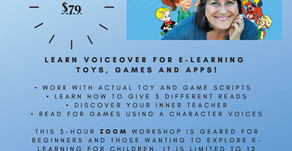 May 30: Voice Acting for Toys and Games Workshop!