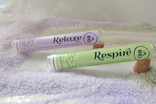 Duo Respire & Relaxe - sels de bain moussant