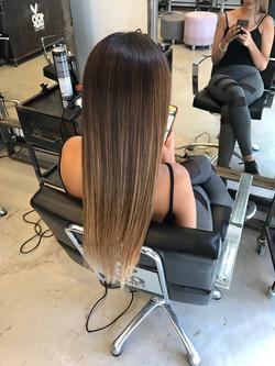 אומברה טבעי בשיער בליאז טבעי