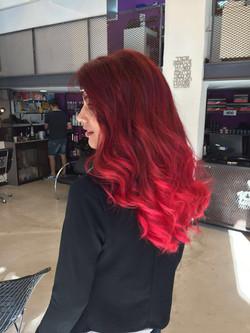 שיער אדום אומברה אדום