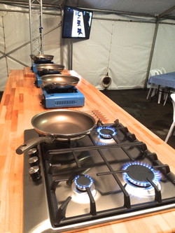 On Stage Kitchens cooking with Gas