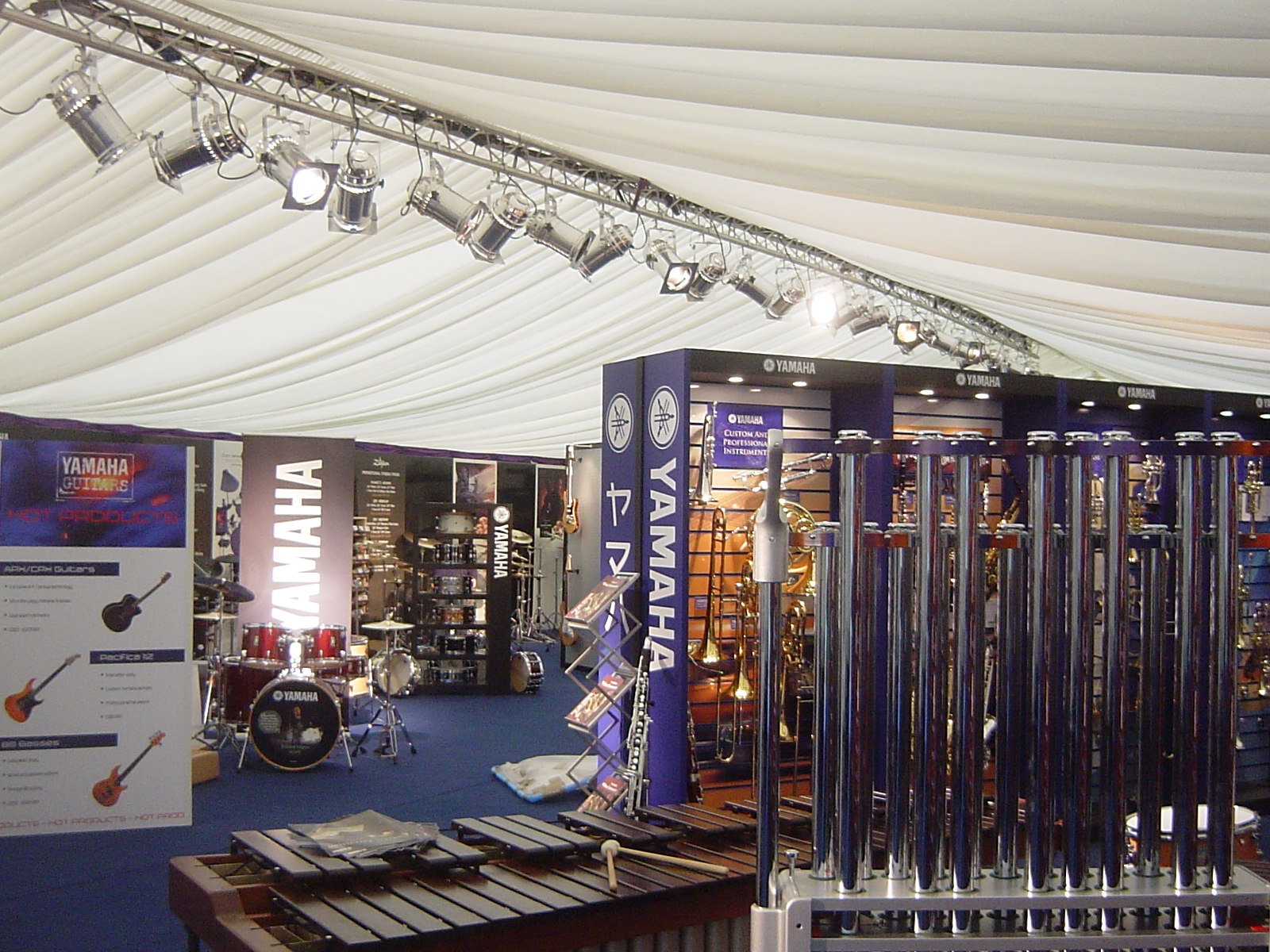 Private corporate exhibition marquee