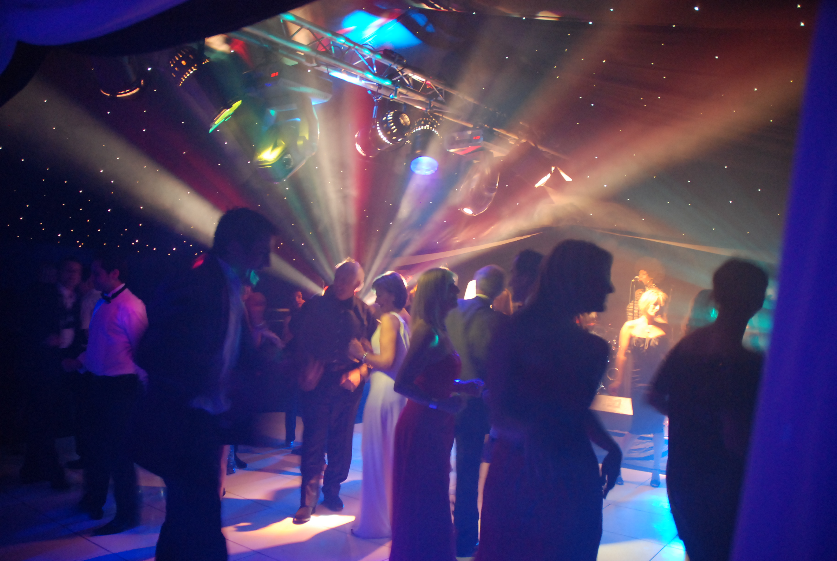 Private party, busy dance floor,