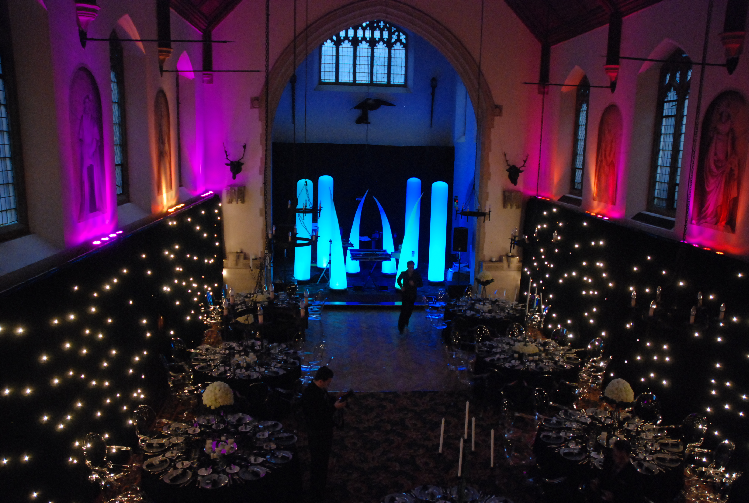 Hanbury Manor Hotel, draped & lit