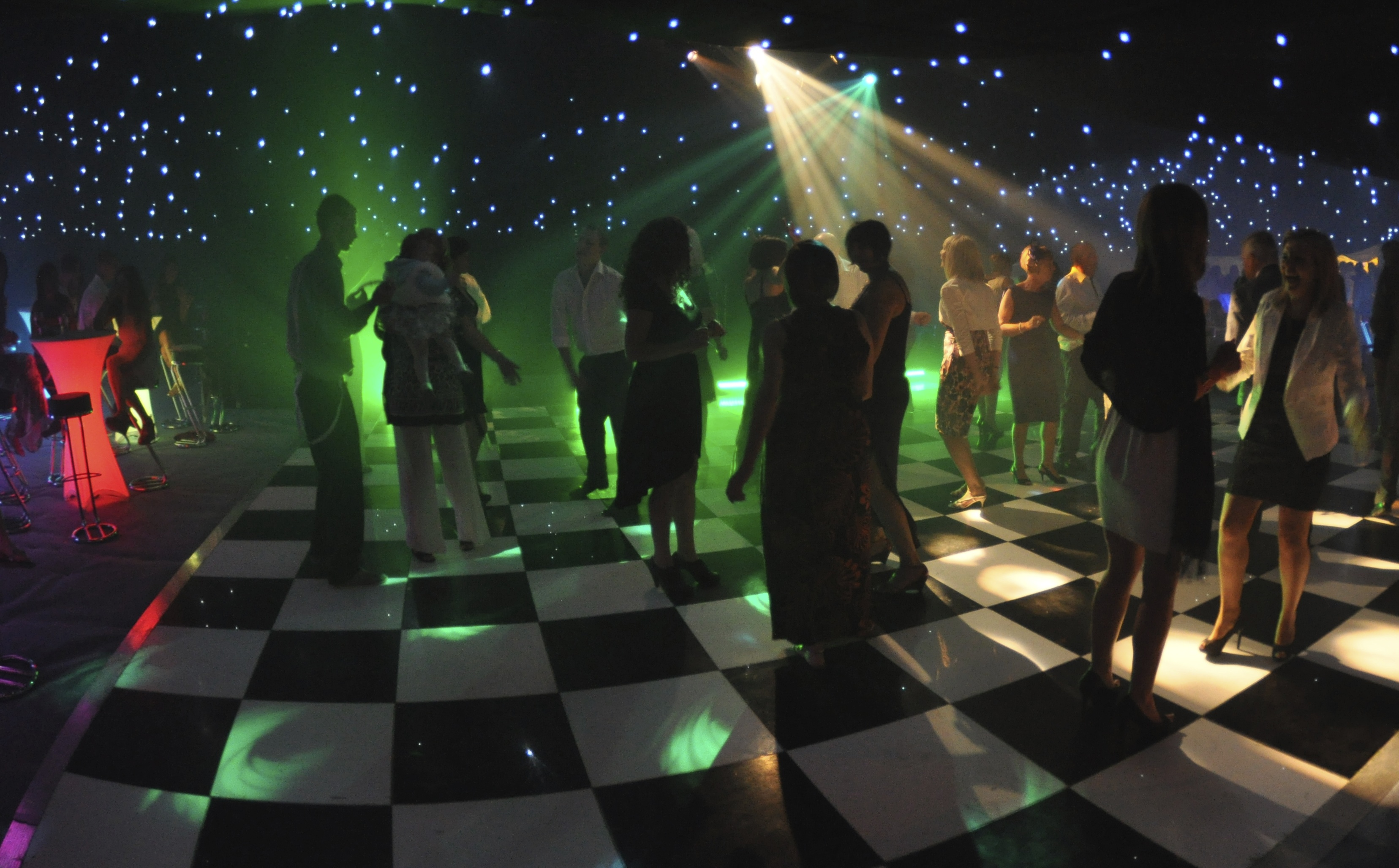 A wedding dance floor