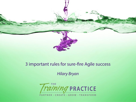 3 important rules for sure-fire Agile success