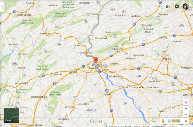 Relocation to Central PA:  This is kind of a big deal!