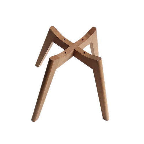 Lounge chair wooden base